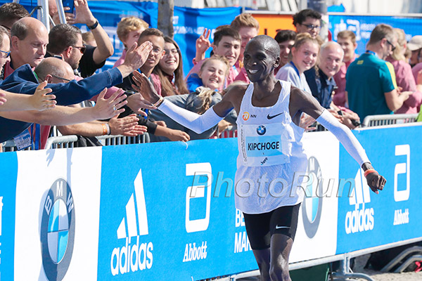 Kipchoge and the fans