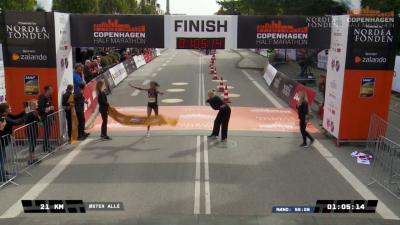 Hassan at finish
