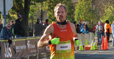Jared Ward competing in the 2015 USA 12-K Championships in Alexandria, Virginia (photo by Jane Monti for Race Results Weekly)