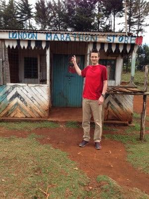 Spencer at the home of running - Iten, Kenya