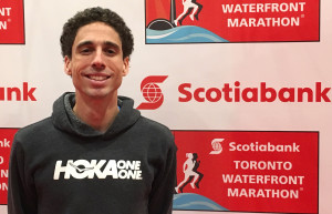 Cam Levins in advance of the 2018 Scotiabank Toronto Waterfront Marathon (photo by David Monti for Race Results Weekly)