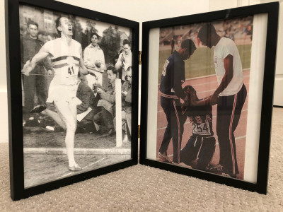 These pictures of Bannister and Beamon have been featured at LRC headquarters for a decade