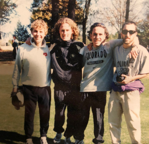 Severy, Batliner, Roybal, and Zeke Tiernan at the 1997 NCAA champs at Furman