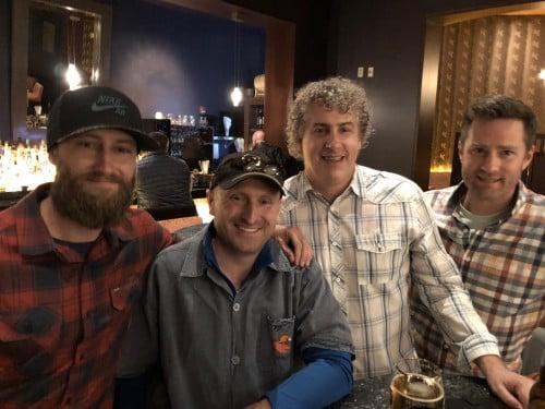 "Kenyon Neuman, Jon Cooper & Jay Cleckler (Colorado's ""original"" walk-on All-Americans in 1994), & Adam Batliner (courtesy Jay Johnson)"