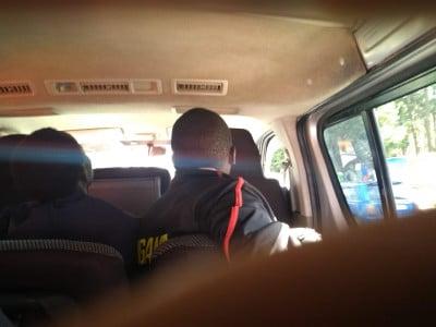 Here's Kiprotich's head in the van