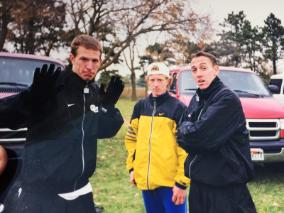 Chris Lear (center) and Adam Goucher (right)- photo from Chris Lear