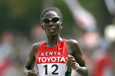 Catherine Ndereba at the 2017 World Champs