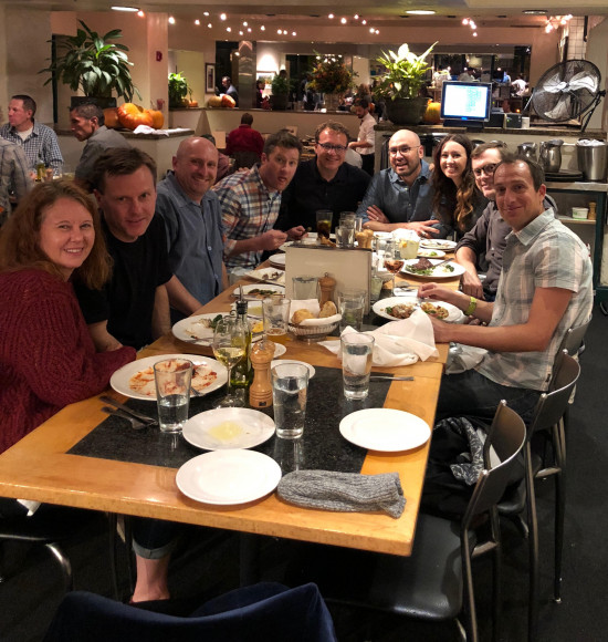 Andy Samuelson & wife, Jon Cooper, Adam Batliner, Jay Johnson, Ron & Jenai Roybal, Brock Tessman, Mike Friedberg (courtesy Jay Johnson)