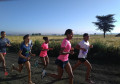 The women running