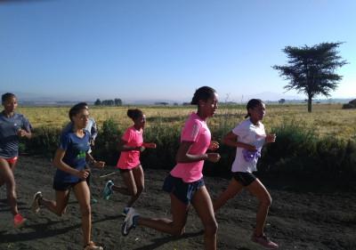 The women running