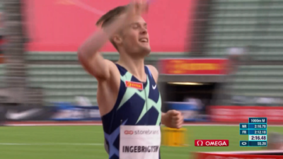 Jakob Ingebrigtsen bat le record européen du 2 km, l'équipe norvégienne détruit l'équipe du Kenya, Karsten Warholm obtient un record et des retours d'athlétisme à Impossible Games - Euro 2020
