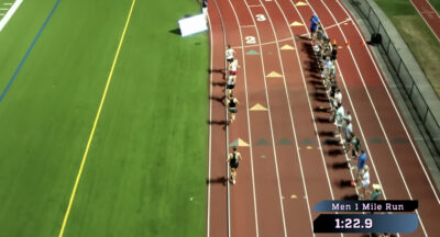 Edwin Merritt Mile Record vs Matthew Centrowitz